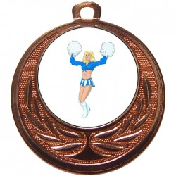 Bronze Cheerleader Medal 40mm