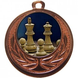 Bronze Chess Medal 40mm