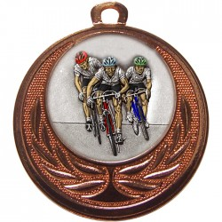 Bronze Cycling Medal 40mm