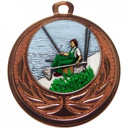Bronze Fishing Medal 40mm