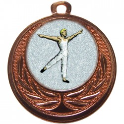 Bronze Male Dance Medal 40mm