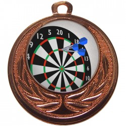 Bronze Darts Medal 40mm