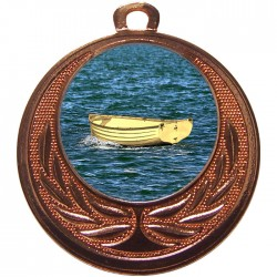 Bronze Wooden Dinghy Medal 40mm