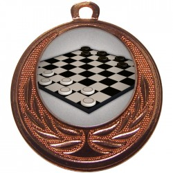 Bronze Draughts Medal 40mm