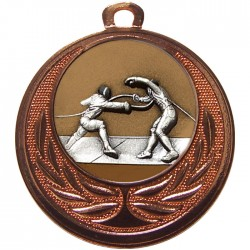 Bronze Fencing Medal 40mm