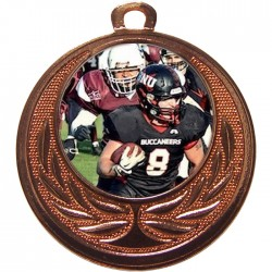 Bronze American Football Medal 40mm