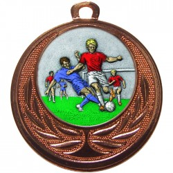 Bronze Male Football Medal 40mm