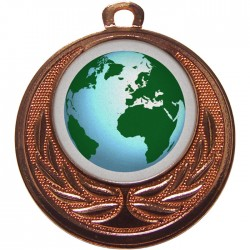 Bronze Globe Medal 40mm