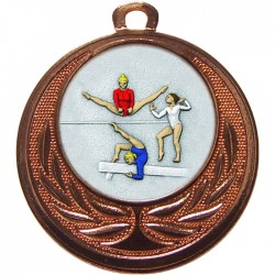 Bronze Female Gymnastics Medal 40mm