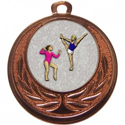 Bronze Gymnastics Floor Medal 40mm