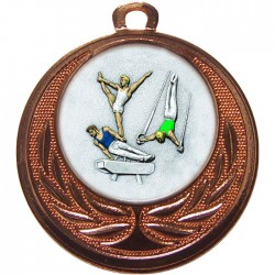Bronze Male Gymnastics Medal 40mm