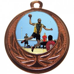 Bronze Handball Medal 40mm