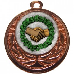 Bronze Handshake Medal 40mm