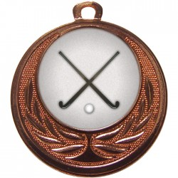 Bronze Hockey Medal 40mm