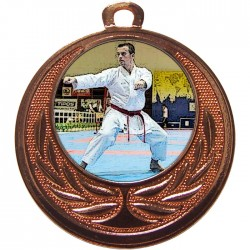 Bronze Karate Medal 40mm