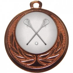 Bronze Lacrosse Medal 40mm
