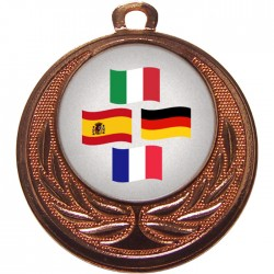 Bronze Languages Medal 40mm