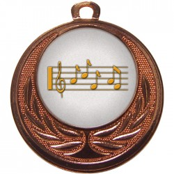 Bronze Music Medal 40mm