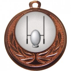 Bronze Rugby Medal 40mm