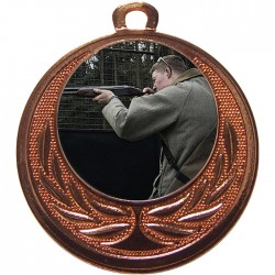 Bronze Clay Pigeon Shooting Medal 40mm