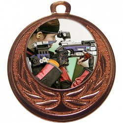Bronze Rifle Shooting Medal 40mm