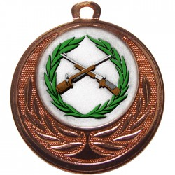 Bronze Small Bore Rifle Shooting Medal 40mm