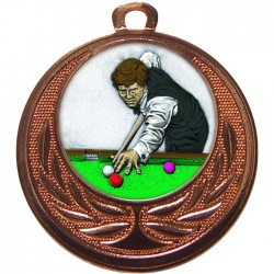 Bronze Snooker Medal 40mm
