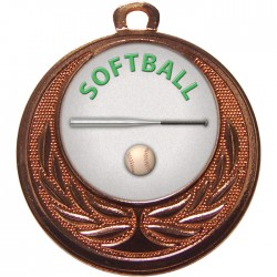 Bronze Softball Medal 40mm