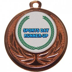 Bronze Sports Day Runner Up Medal 40mm