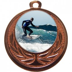 Bronze Surfing Medal 40mm
