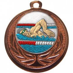 Bronze Swimming Medal 40mm