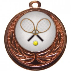 Bronze Tennis Medal 40mm