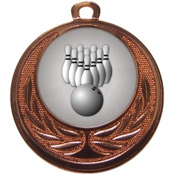 Bronze Ten Pin Bowling Medal 40mm