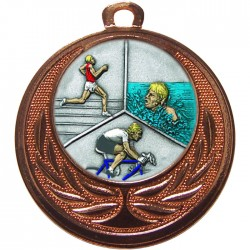 Bronze Triathlon Medal 40mm