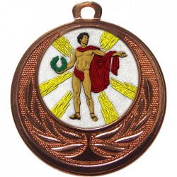 Bronze Victory Male Medal 40mm