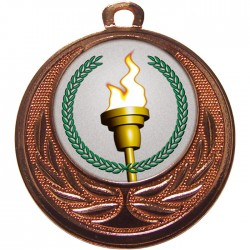 Bronze Victory Torch Medal 40mm