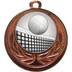 Bronze Volleyball Medal 40mm