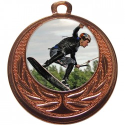 Bronze Wake Boarding Medal 40mm