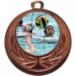 Bronze Water Polo Medal 40mm