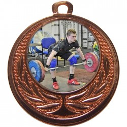 Bronze Weightlifting Medal 40mm