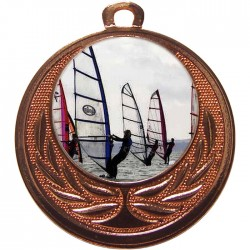 Bronze Windsurfing Medal 40mm