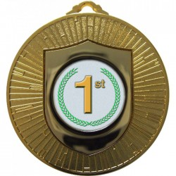 Gold 1st Place Medal 60mm
