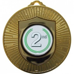 Gold 2nd Place Medal 60mm