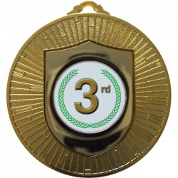 Gold 3rd Place Medal 60mm