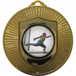 Gold Discus Medal 60mm