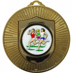 Gold Female Athletics Medal 60mm