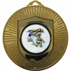 Gold Jumping Athlete Medal 60mm