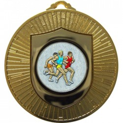 Gold Male Athlete Medal 60mm