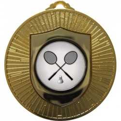 Gold Badminton Medal 60mm
