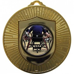 Gold Wheelchair Basketball Medal 60mm